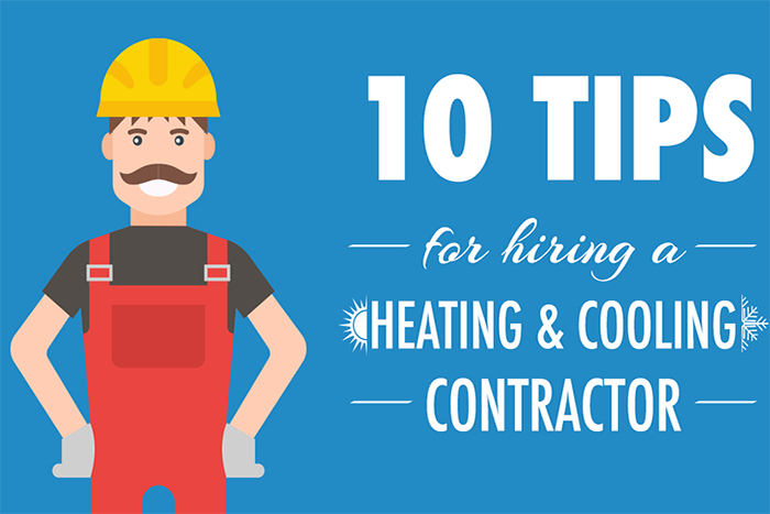 how to find the best HVAC contractor infographic